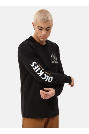 Dickies musta pitkähihainen paita - BALDWIN