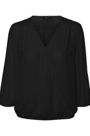 Musta kietaisumallinen paita - VMISABELLA WRAP TOP