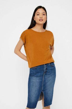 Ruskea t-paita - VMAVA PLAIN