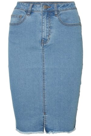 Sininen farkkukynähame - NMBE LEXI PENCIL DENIM SKIRT