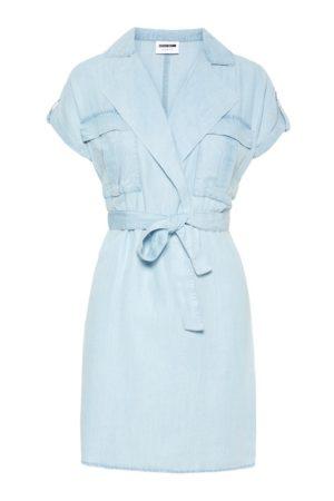 Vaaleansininen lyhythihainen mekko - NMVERA SHIRT DRESS