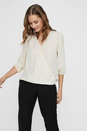 Valkoinen kietaisumallinen paita - VMISABELLA WRAP TOP