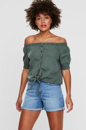 Vihreä off shoulder-mallinen paita - NMENDI