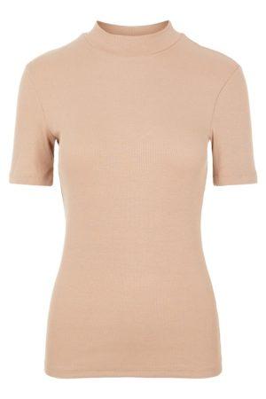 Beige korkeakauluksinen paita - PCBIRDIE T-NECK