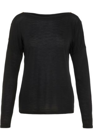 Musta pitkähihainen paita - PCNOLLIE O-NECK TOP