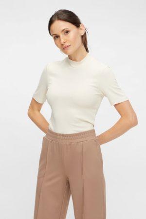 Valkoinen korkeakauluksinen paita - PCBIRDIE T-NECK