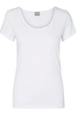 Valkoinen perus t-paita - VMMAXI MY SOFT