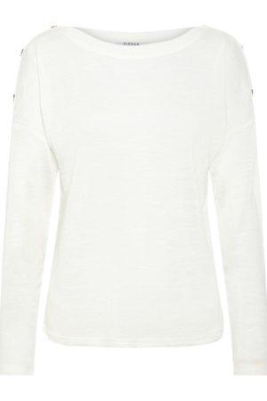 Valkoinen pitkähihainen paita - PCNOLLIE O-NECK TOP