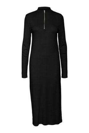 Musta korkeakauluksinen mekko - NMRIBA HIGH NECK DRESS
