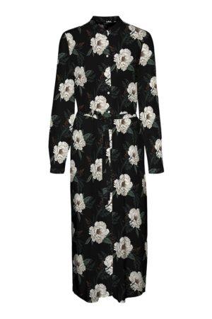 Pitkähihainen kukkamekko - VMSIMPLY EASY LONG SHIRT DRESS