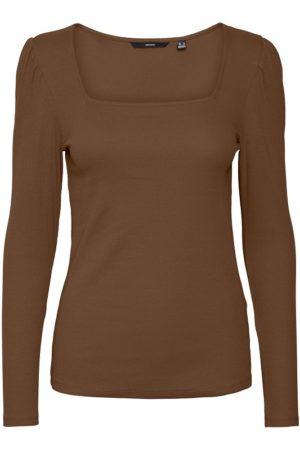 Ruskea puhvihihainen paita - VMNATASHA LS PUFF TOP