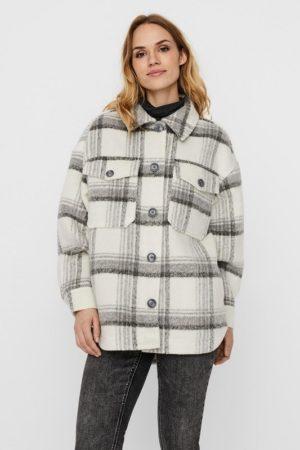 Ruudullinen paitamallinen takki - VMDAWN CHECK JACKET