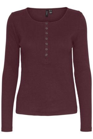 Viininpunainen napillinen paita - VMNATASHA PLACKET TOP
