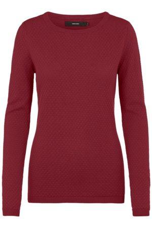 Viininpunainen tekstuurillinen paita - VMCARE