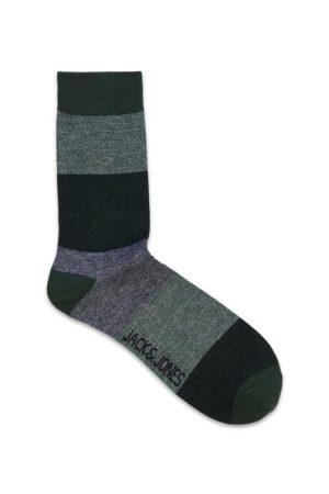 Harmaat raidalliset sukat - JACTWISTED BLOCK SOCK - FUNDA