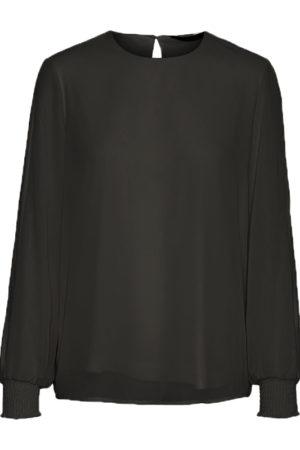 Musta paita pitsiyksityiskohdilla - VMCRESTA LS TOP