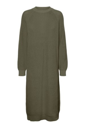 Vihreä pitkä neulemekko - NMLUCIA KNIT DRESS