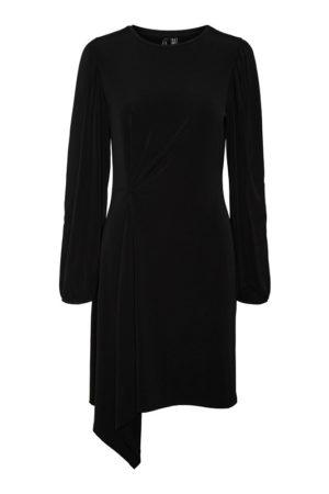 Musta mekko epäsymmetrisellä helmalla - VMSOPHIA DRAPING DRESS