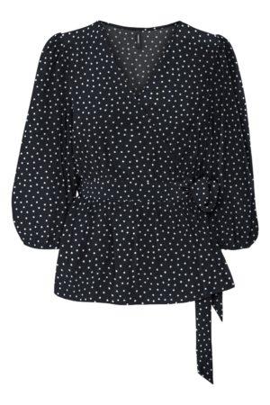 Pilkullinen kietaisumallinen paita - VMJUNO WRAP TOP